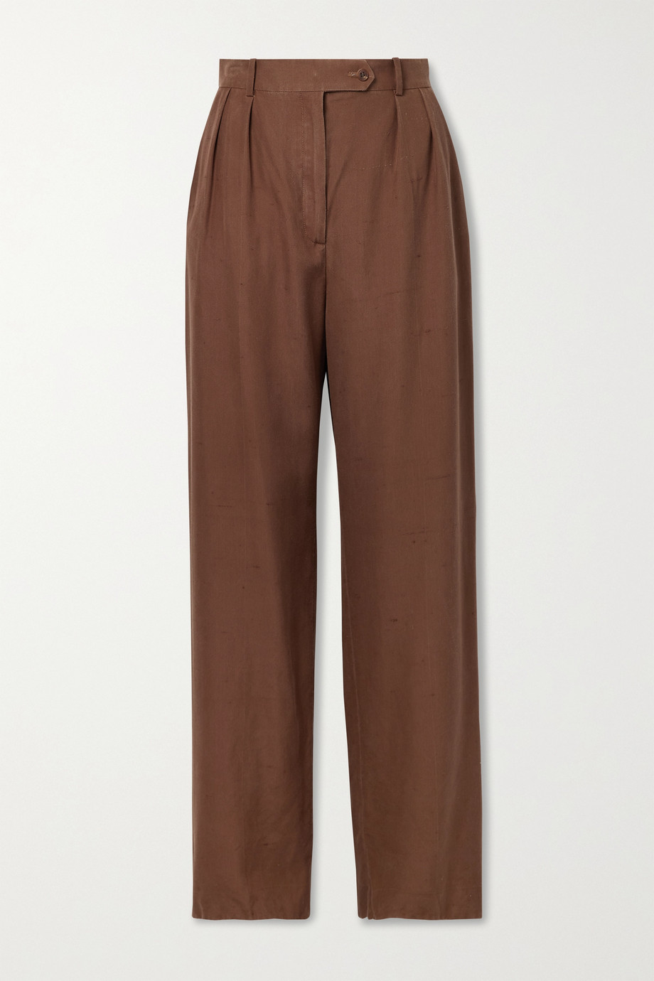 The Row Nino silk-shantung wide-leg pants