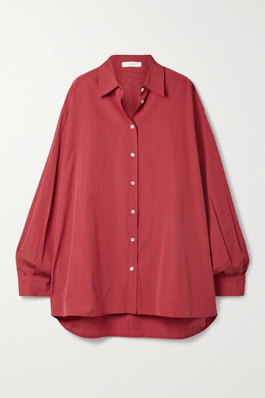 The Row Luka oversized cotton-poplin shirt