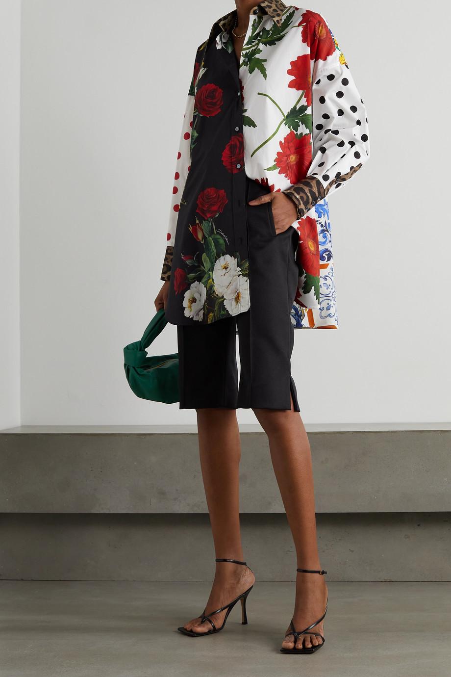 Dolce & Gabbana Chemise oversize patchwork en popeline de coton
