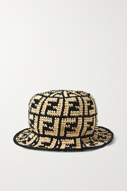 Fendi Faux straw bucket hat