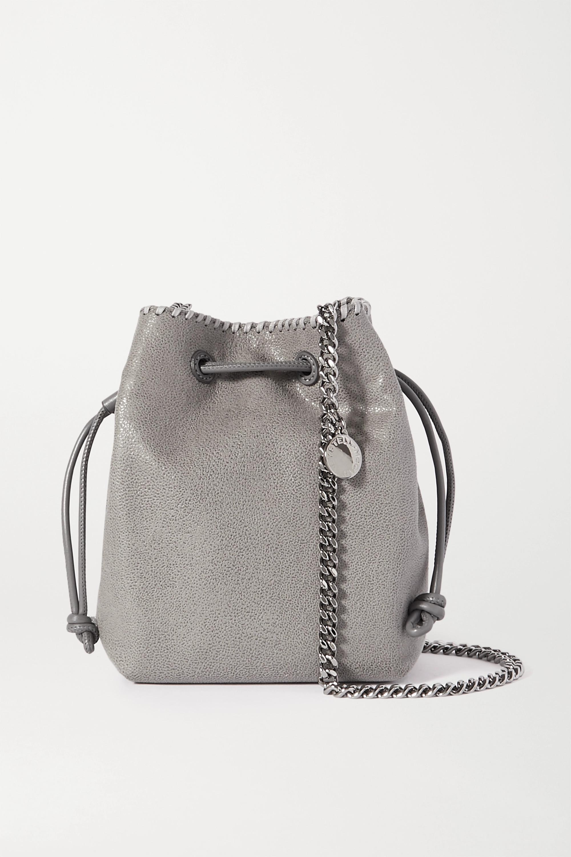 Stella McCartney The Falabella micro vegetarian brushed-leather bucket bag