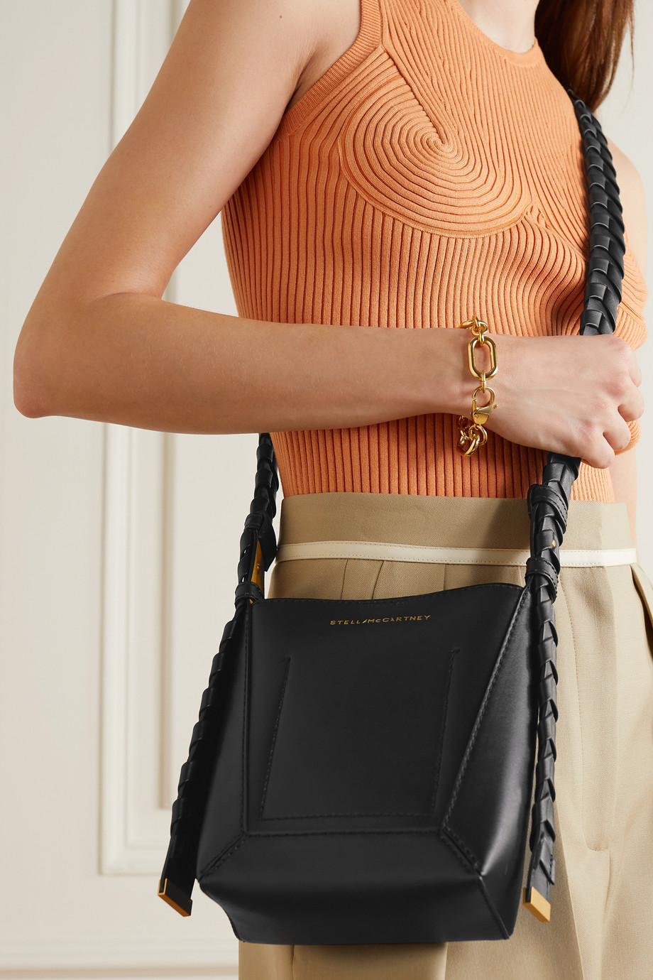 Stella McCartney Eco Soft braided vegetarian leather shoulder bag