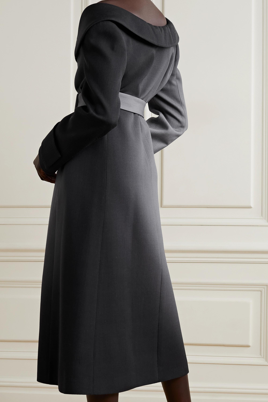 Fendi Schulterfreier Mantel aus Wolle mit Farbverlauf und Gürtel