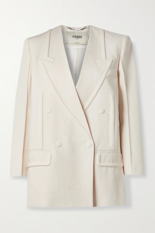 Fendi Double-breasted linen blazer