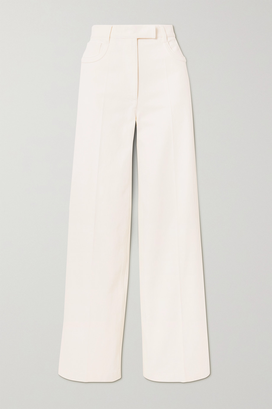 Embossed denim wide-leg pants by Fendi, available on net-a-porter.com for EUR720 Georgia Fowler Pants Exact Product