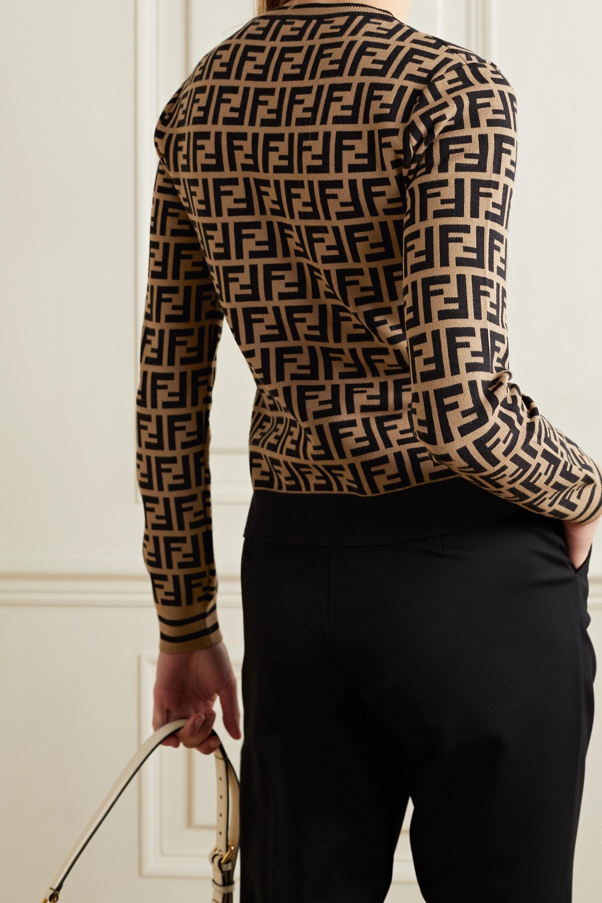 Fendi Pullover aus Jacquard-Strick