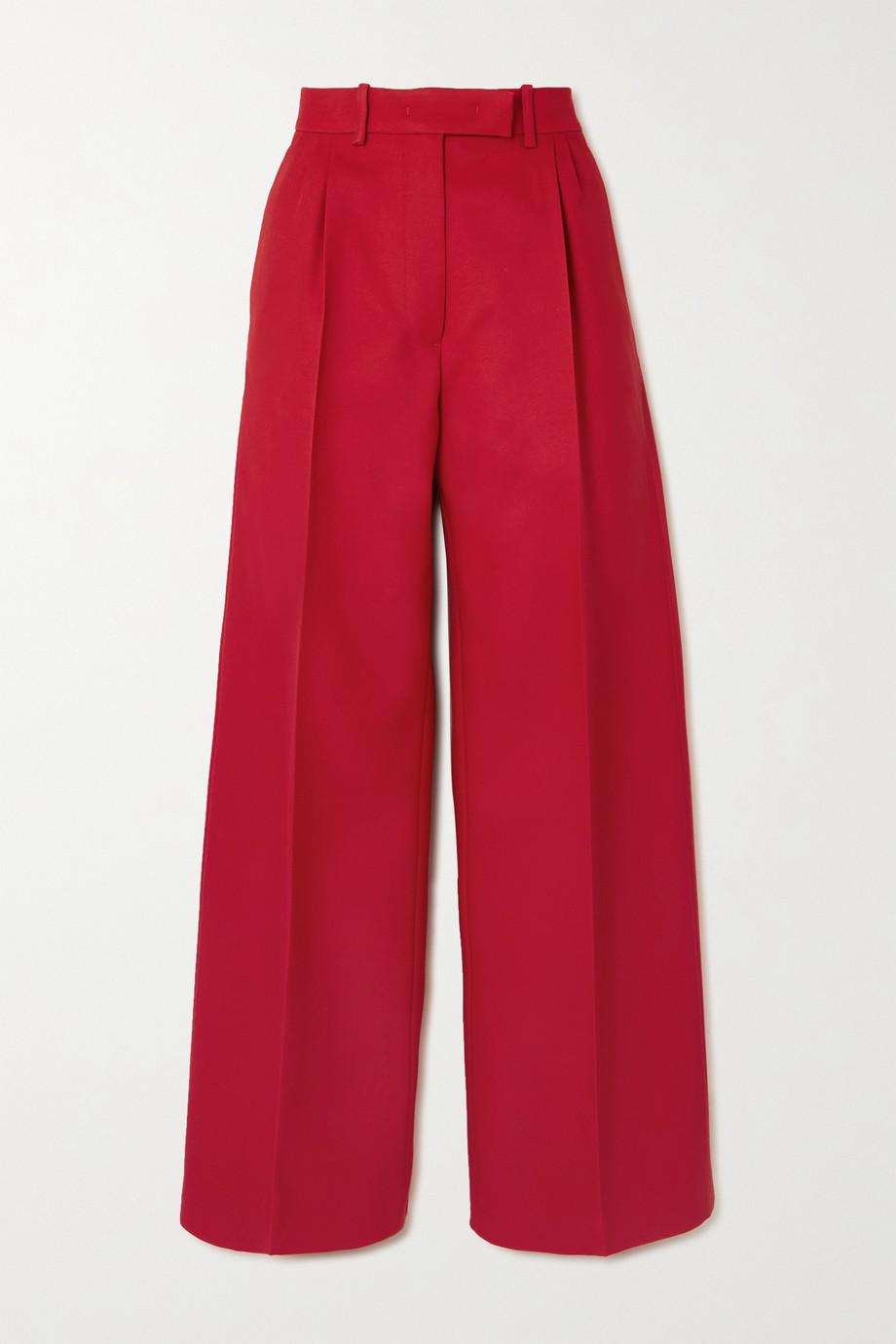 Fendi Grain de poudre wool-blend wide-leg pants