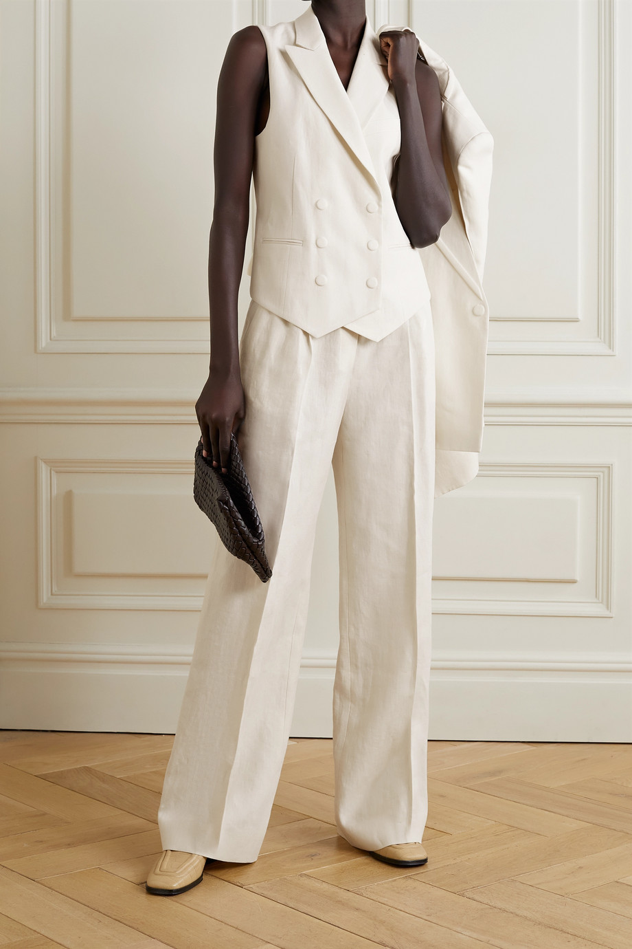 Fendi Linen wide-leg pants