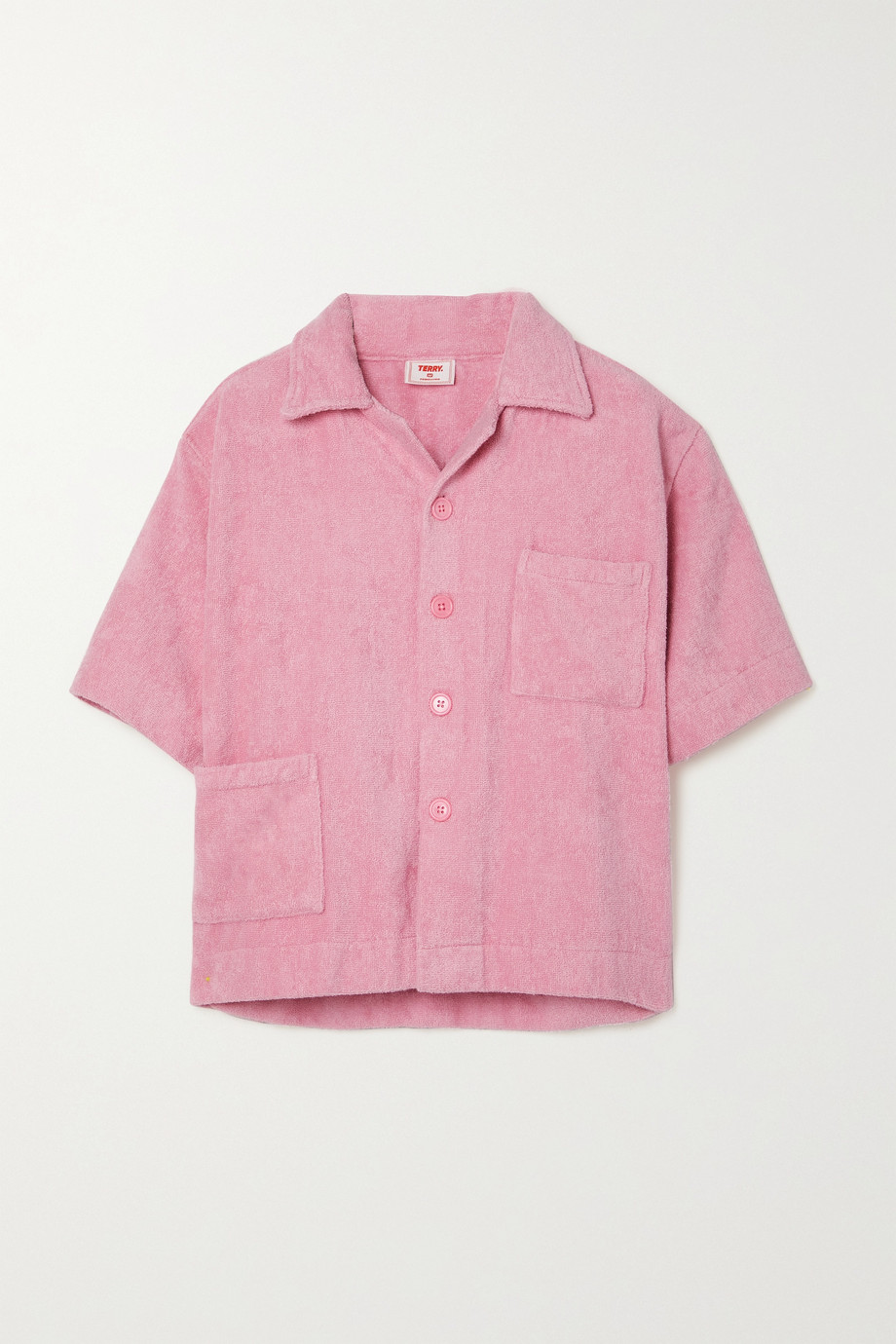 TERRY Boxy cotton-terry shirt