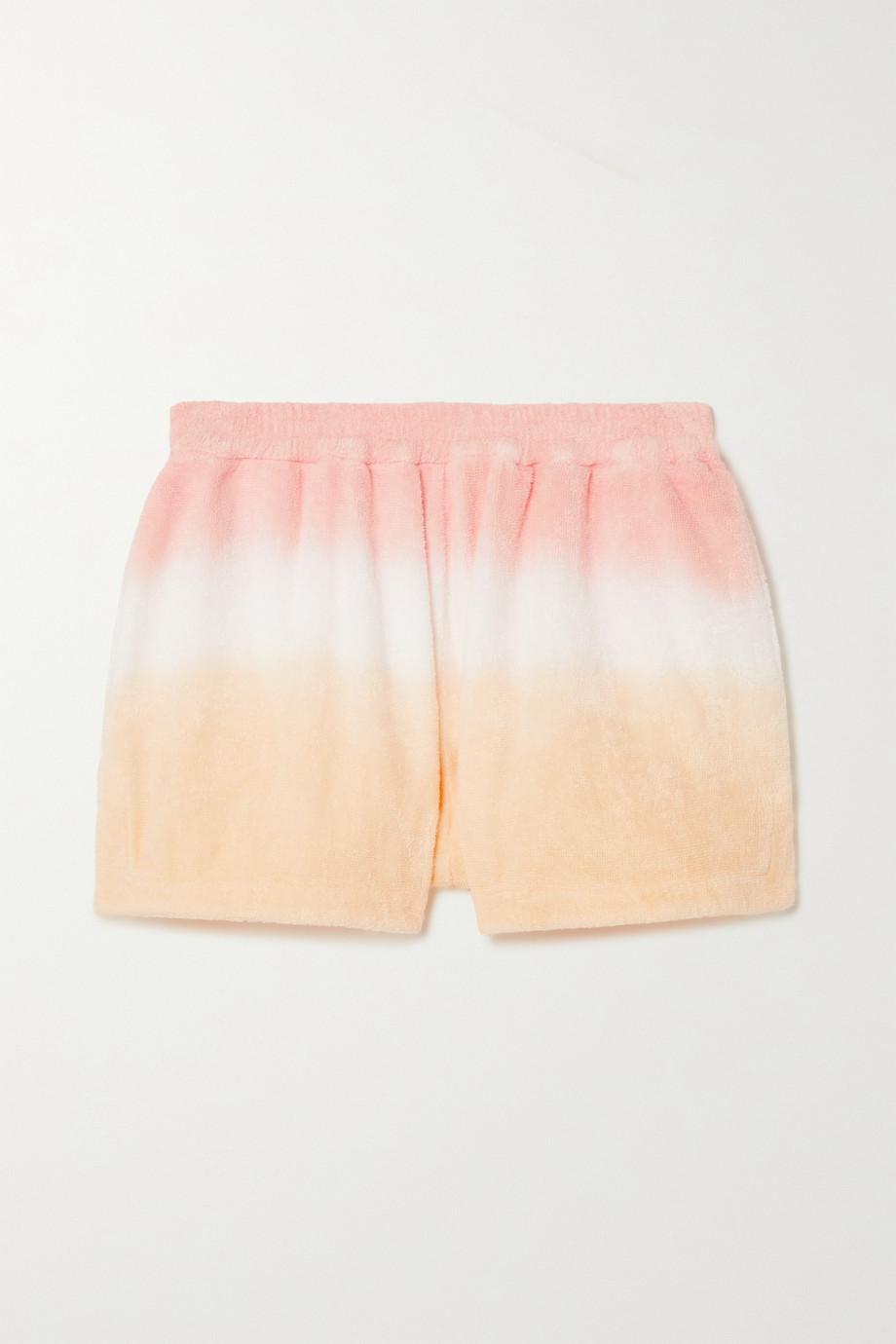 TERRY Estate Shorts aus Baumwollfrottee mit Farbverlauf