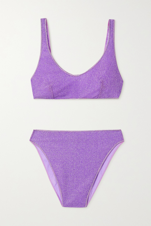 Oséree Lumière 90s stretch-Lurex bikini