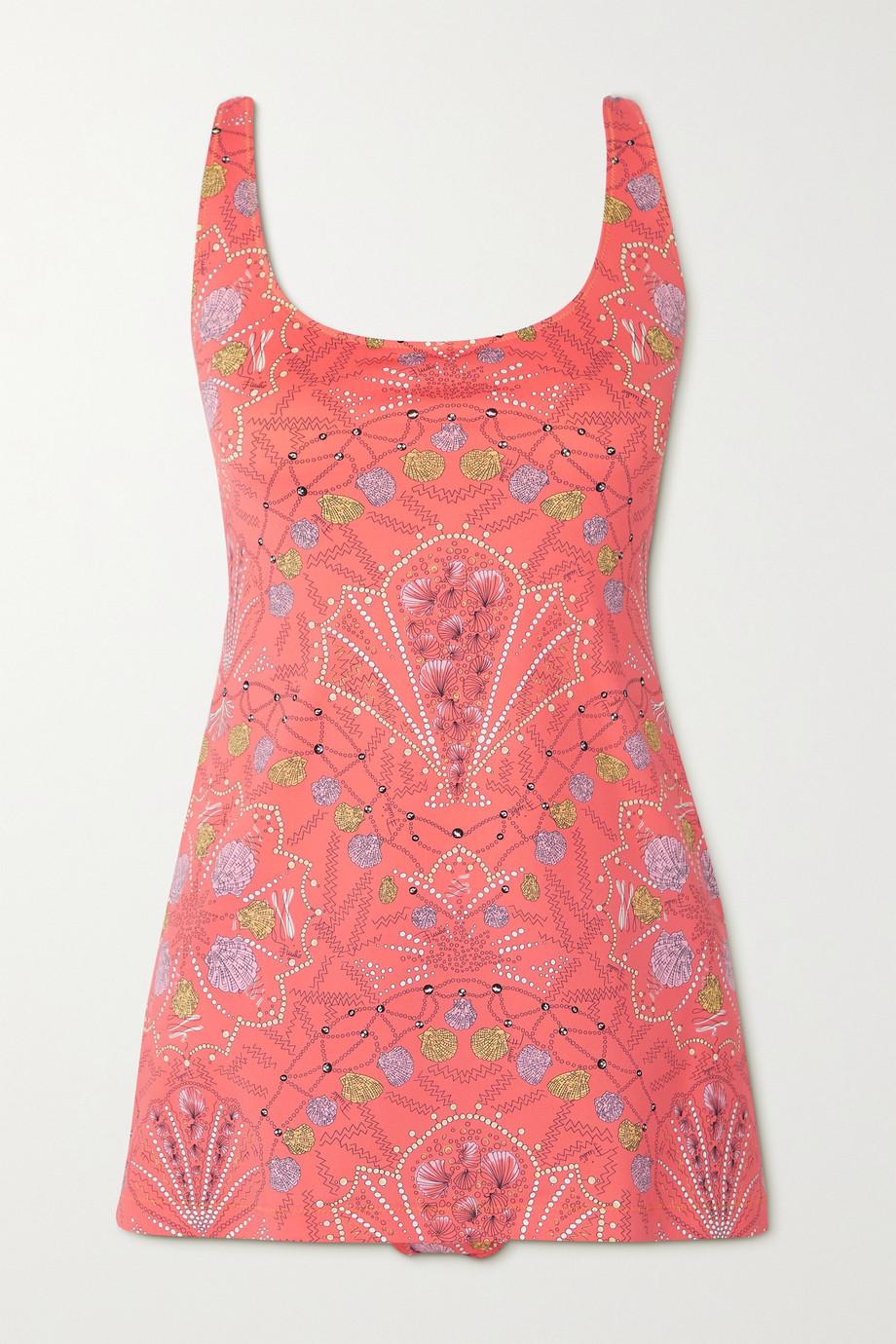 Emilio Pucci + NET SUSTAIN printed stretch-ECONYL swimsuit