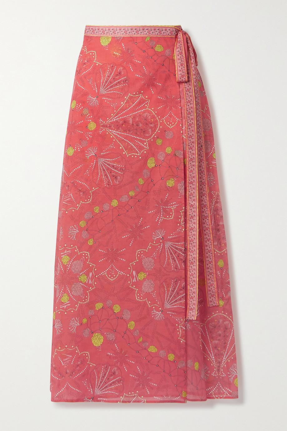 Emilio Pucci + NET SUSTAIN printed cotton-voile midi wrap skirt