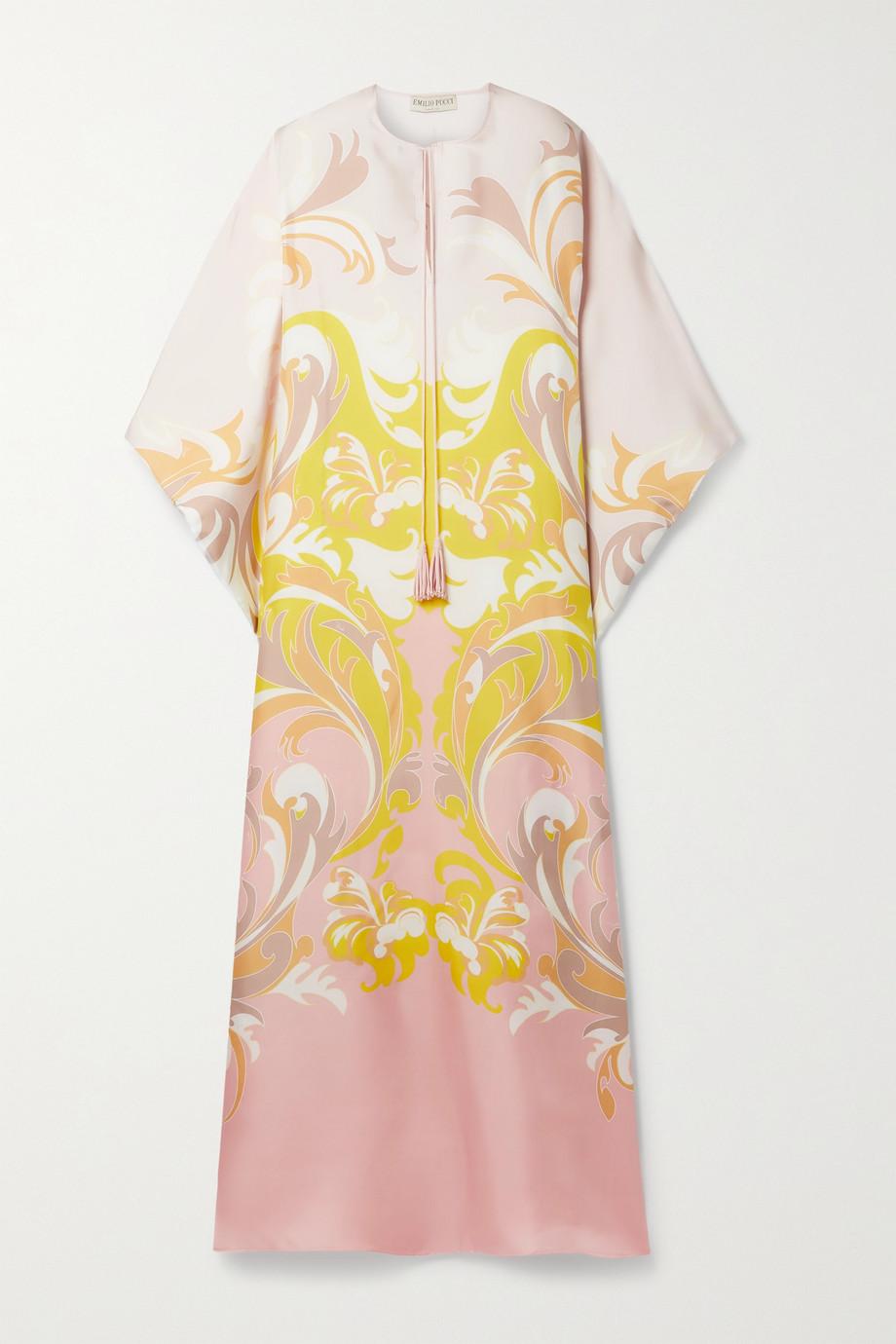 Emilio Pucci + NET SUSTAIN printed silk-twill kaftan