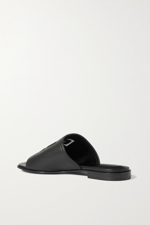 Givenchy Claquettes en cuir à logo