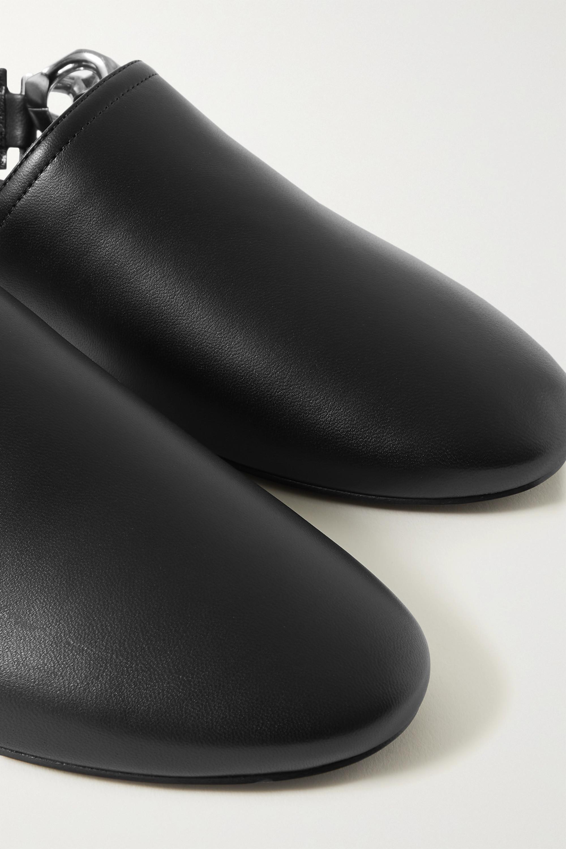 Givenchy Flache Slingback-Schuhe aus Leder mit Kette