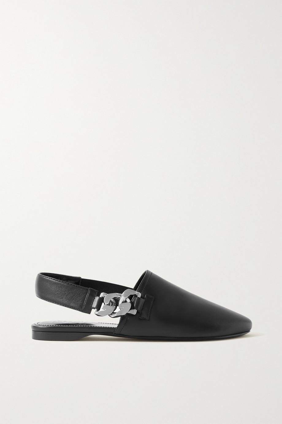 Givenchy Chaussures plates à brides en cuir à chaînes