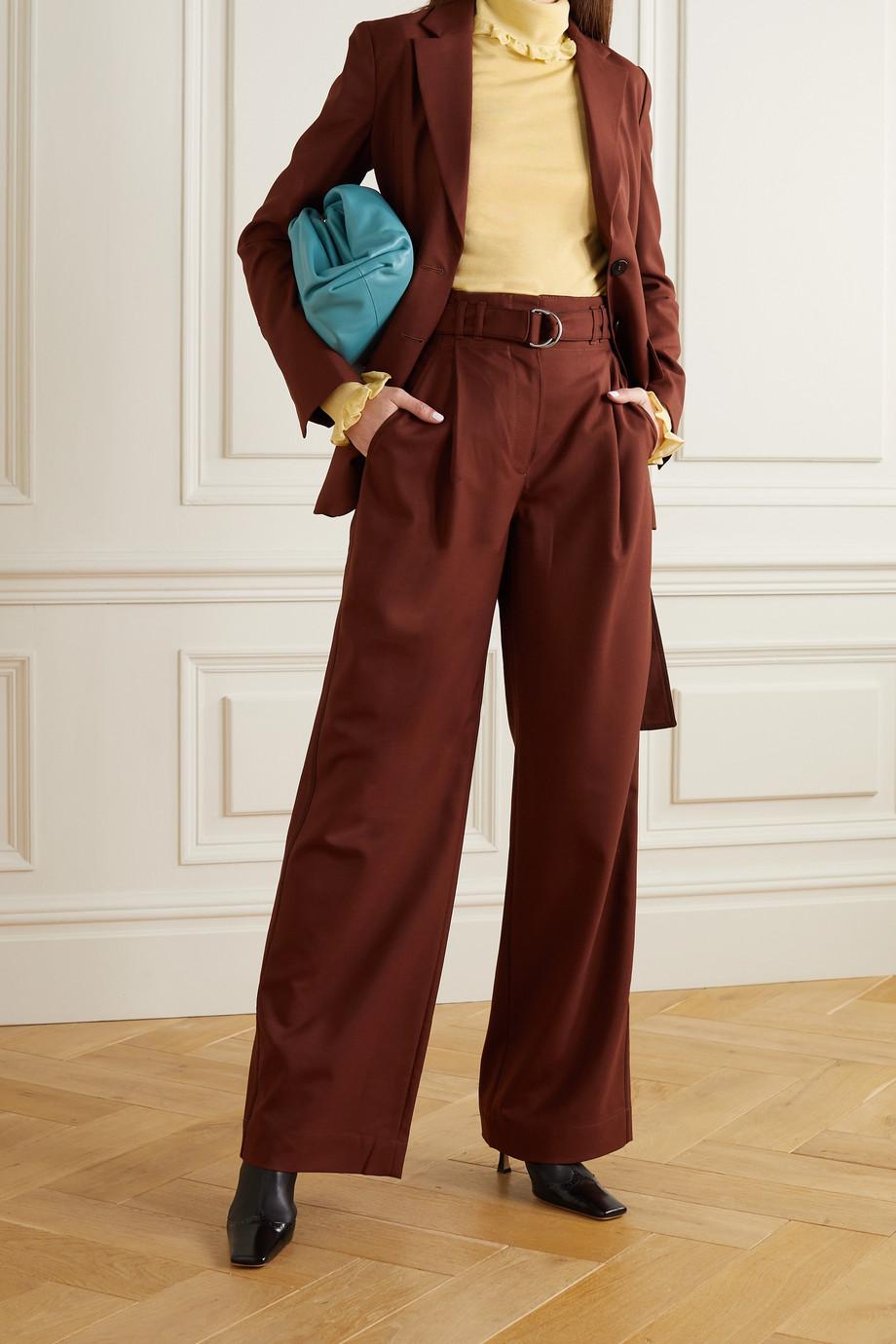 Victoria Beckham Ruffled knitted turtleneck sweater