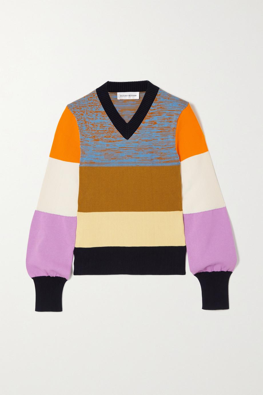 Victoria Beckham Pull en coton mélangé color-block