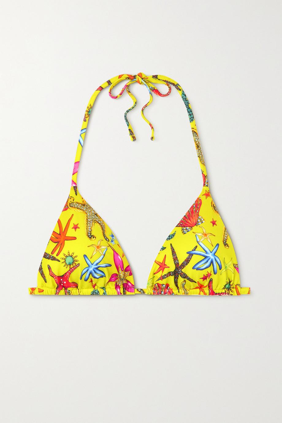 Versace Haut de bikini triangle imprimé