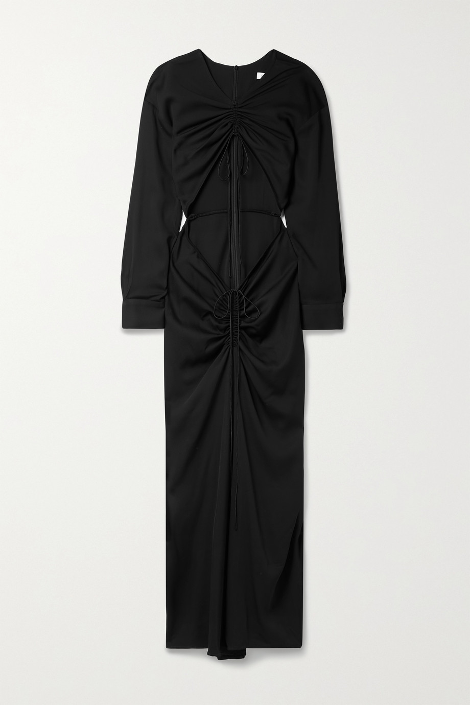Christopher Esber Ruched cutout stretch-jersey maxi dress