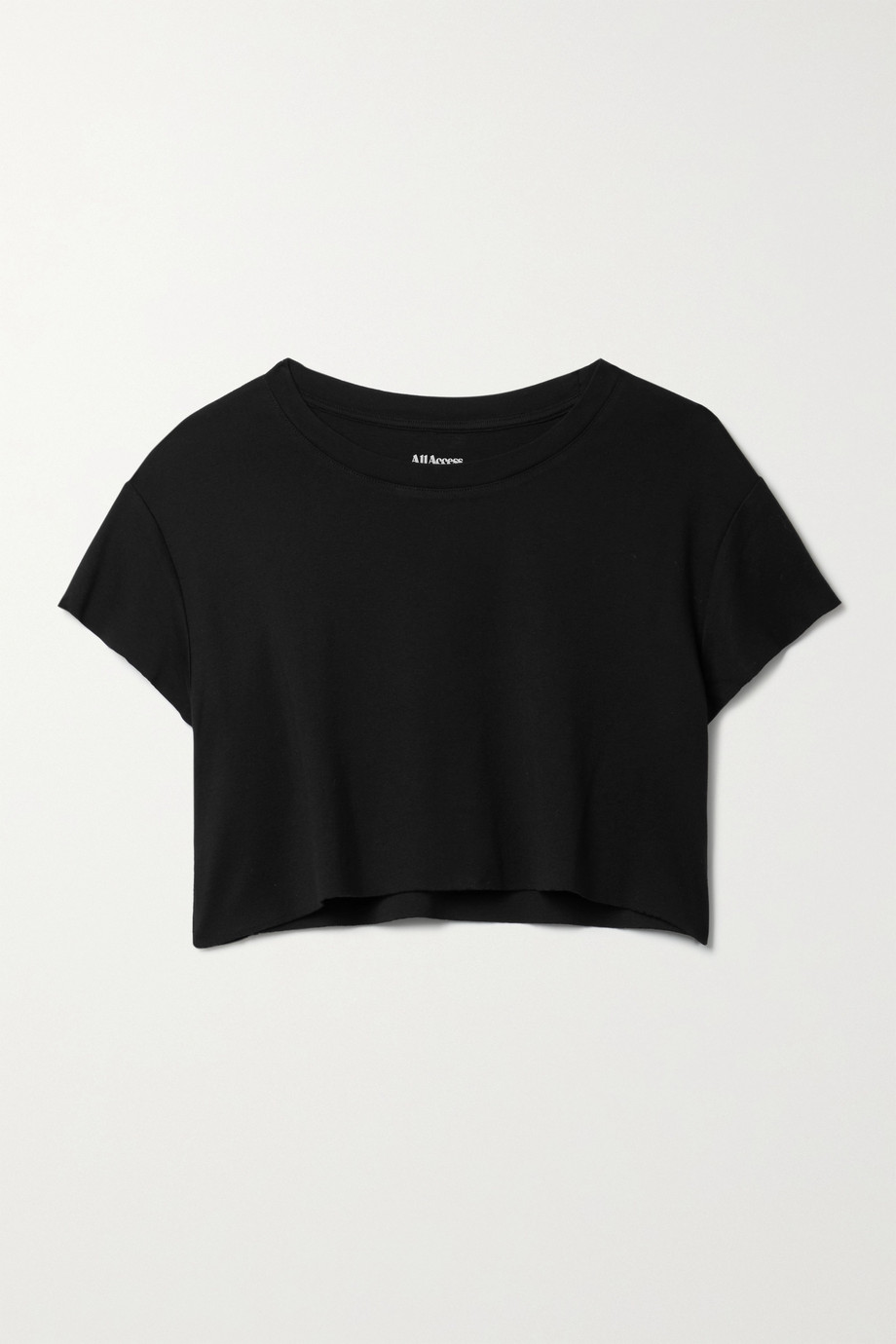 All Access Cropped Pima cotton and Micro Modal-blend jersey T-shirt