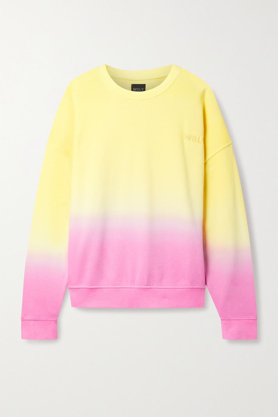 WSLY Ombré cotton-blend jersey sweatshirt