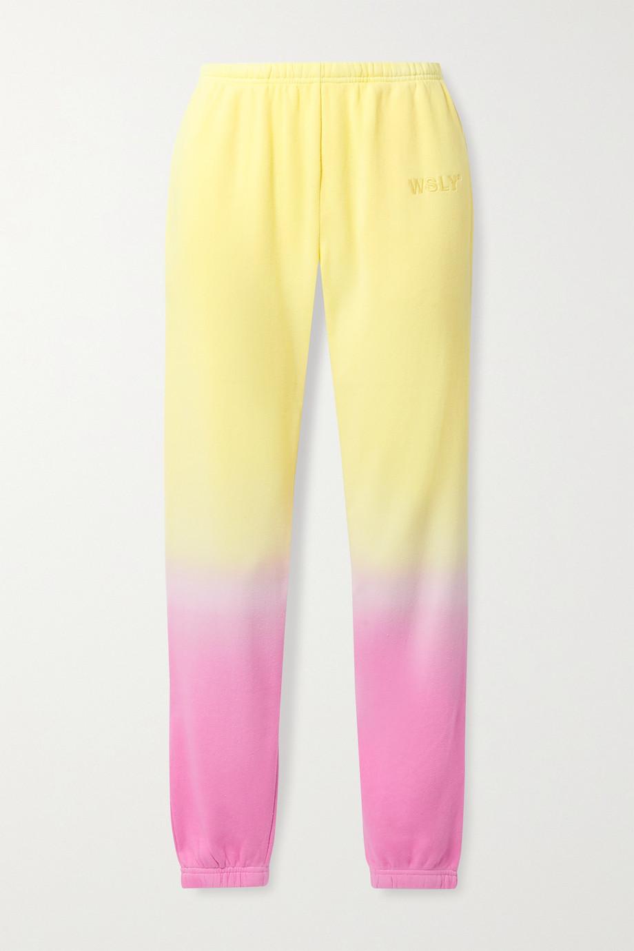 WSLY Ombré cotton-blend jersey track pants