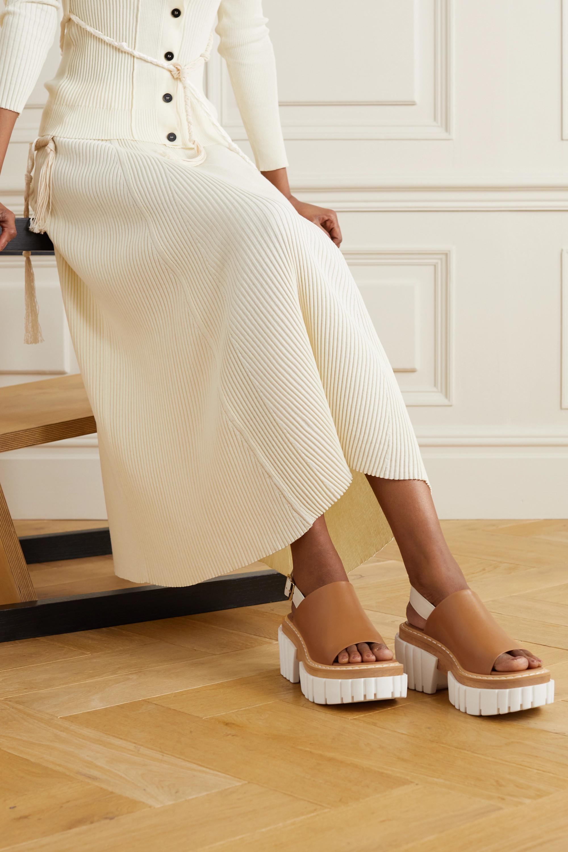 Stella McCartney Emilie vegetarian leather slingback platform sandals