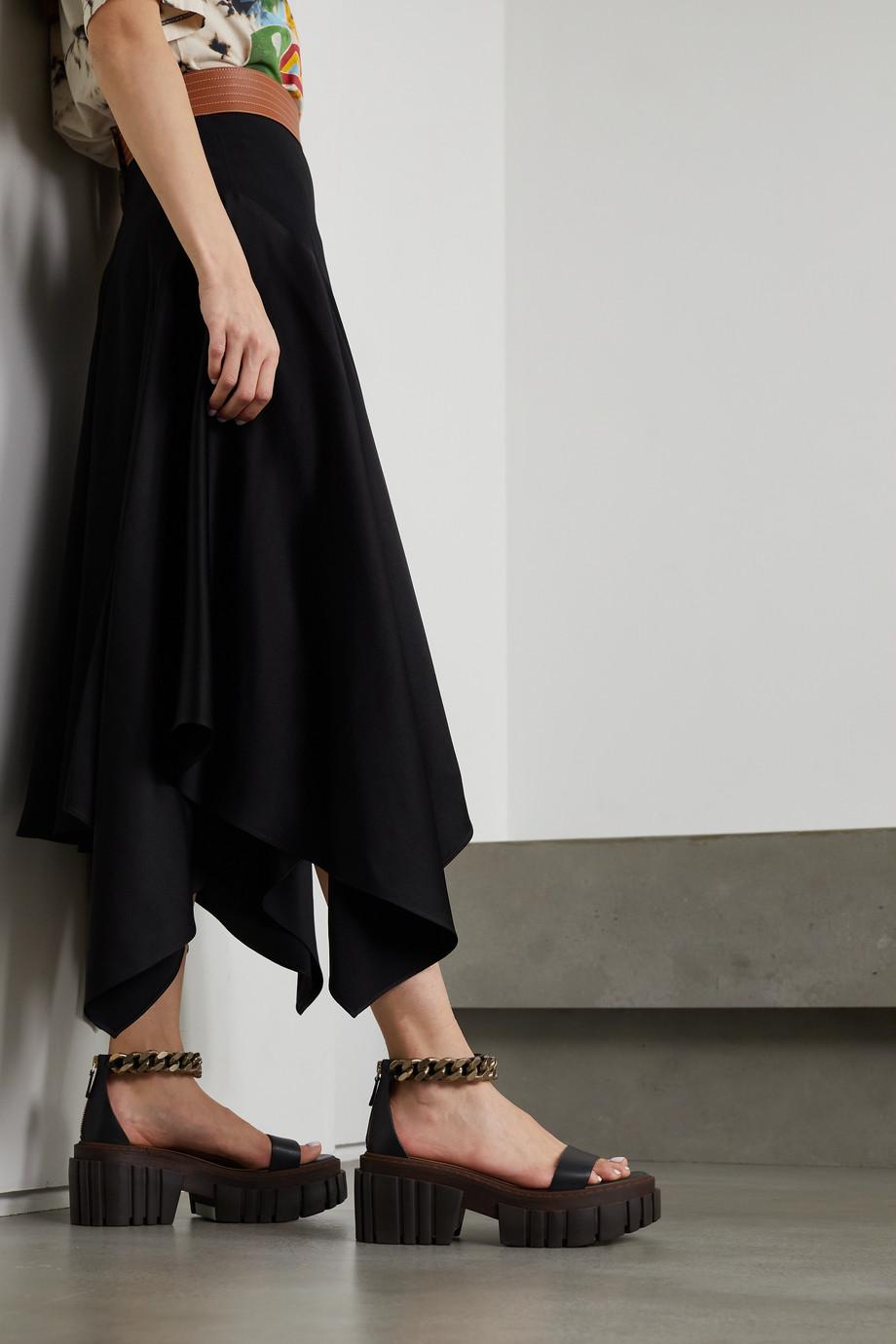 Stella McCartney Emilie chain-embellished vegetarian leather platform sandals