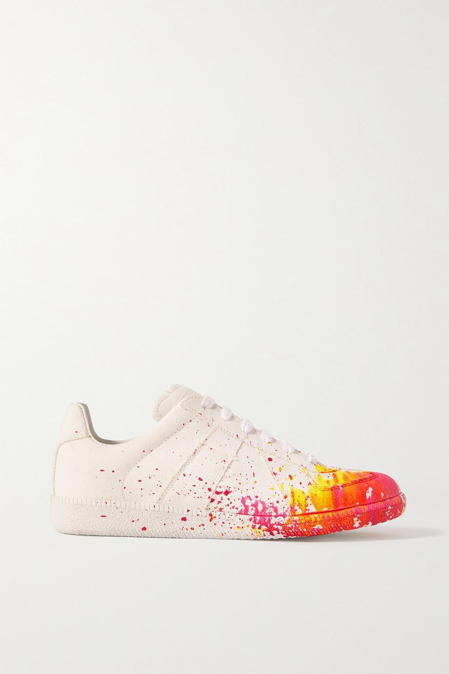 Maison Margiela Replica printed cotton-canvas sneakers
