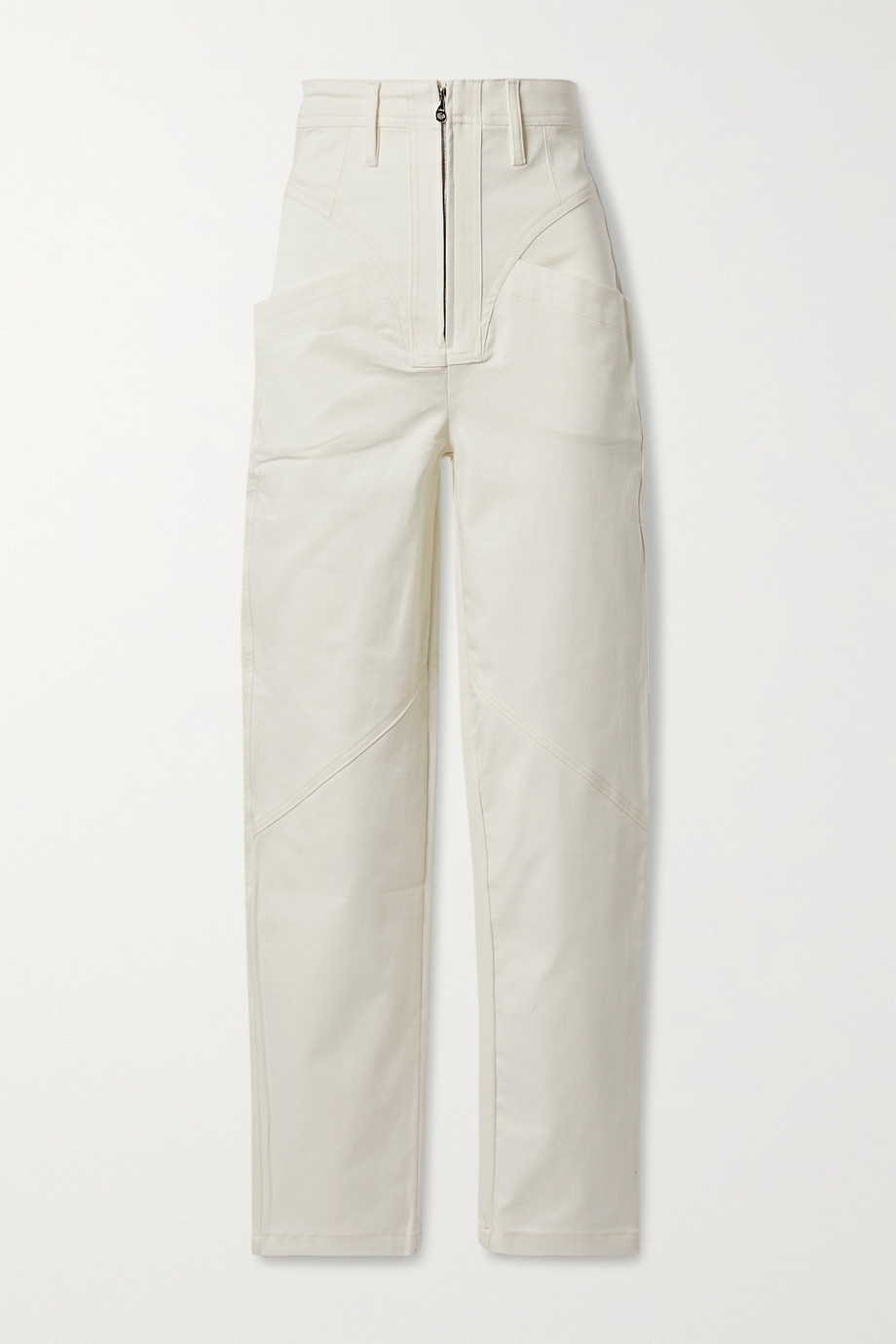 TRE by Natalie Ratabesi The Lynne cotton-blend twill skinny pants