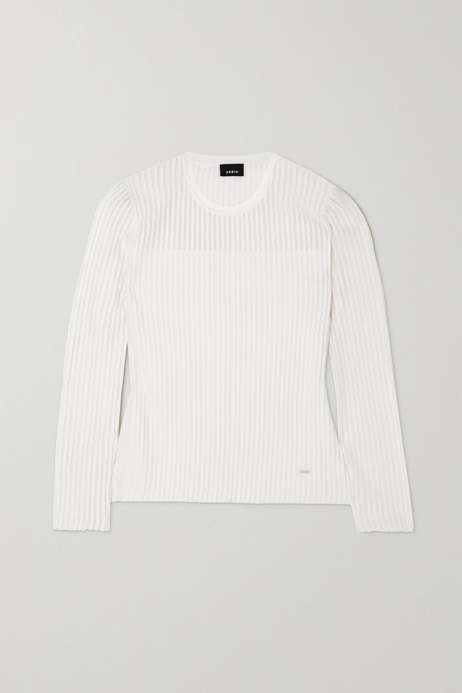 Akris Ribbed silk-blend sweater