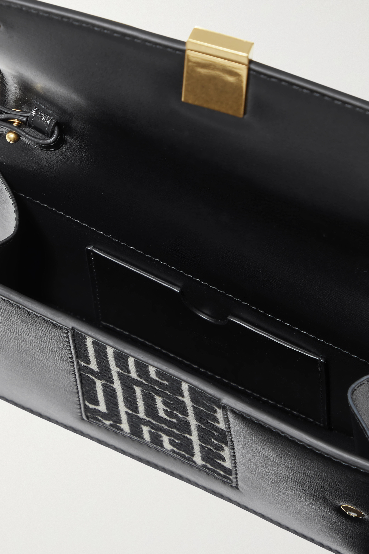 Balmain Sac porté épaule en jacquard à finitions en cuir 1945 Mini