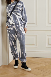 Les Tien Tie-dyed cotton-jersey track pants