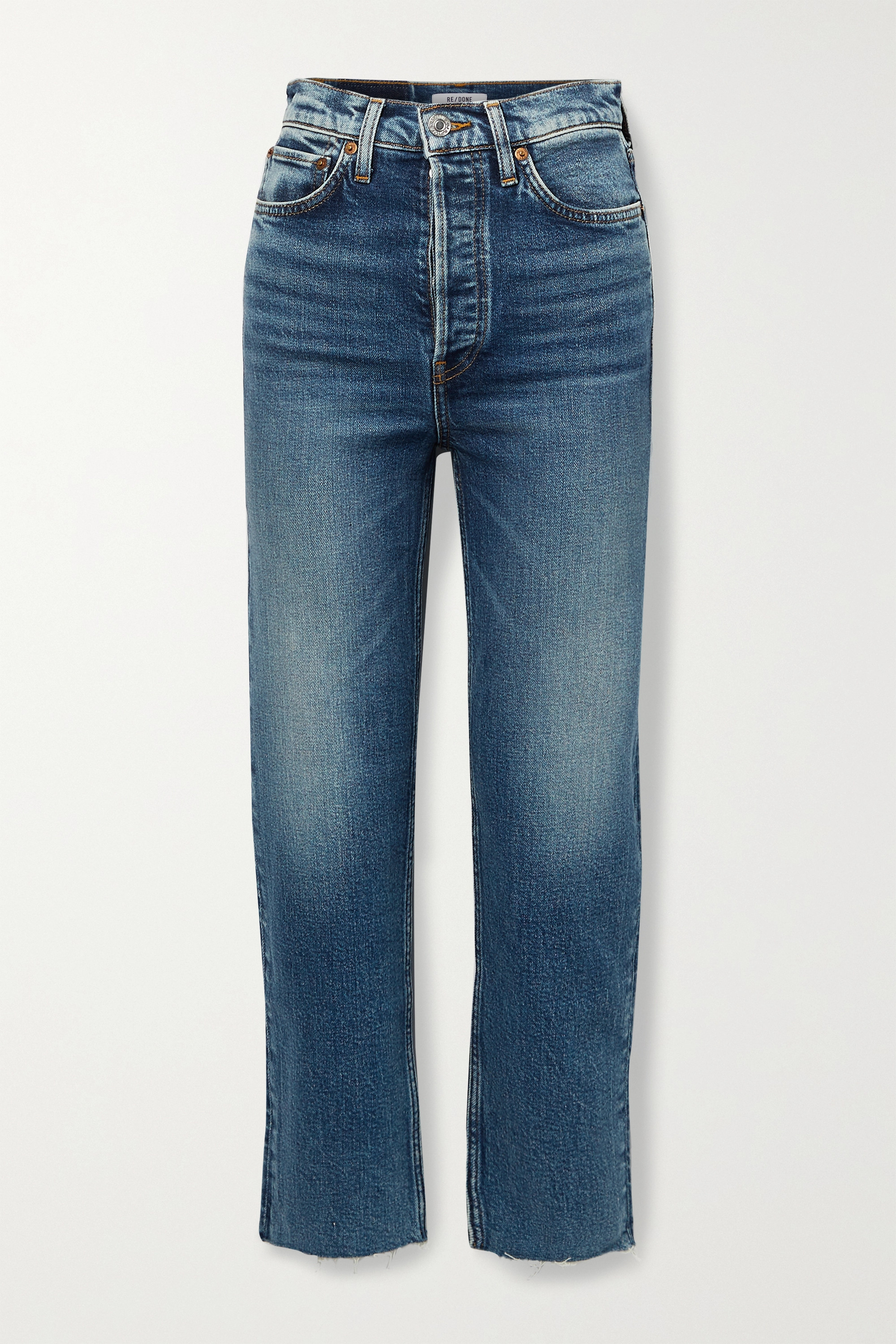 RE/DONE Ultra High Rise Stove Pipe Comfort Stretch Jeans mit geradem Bein