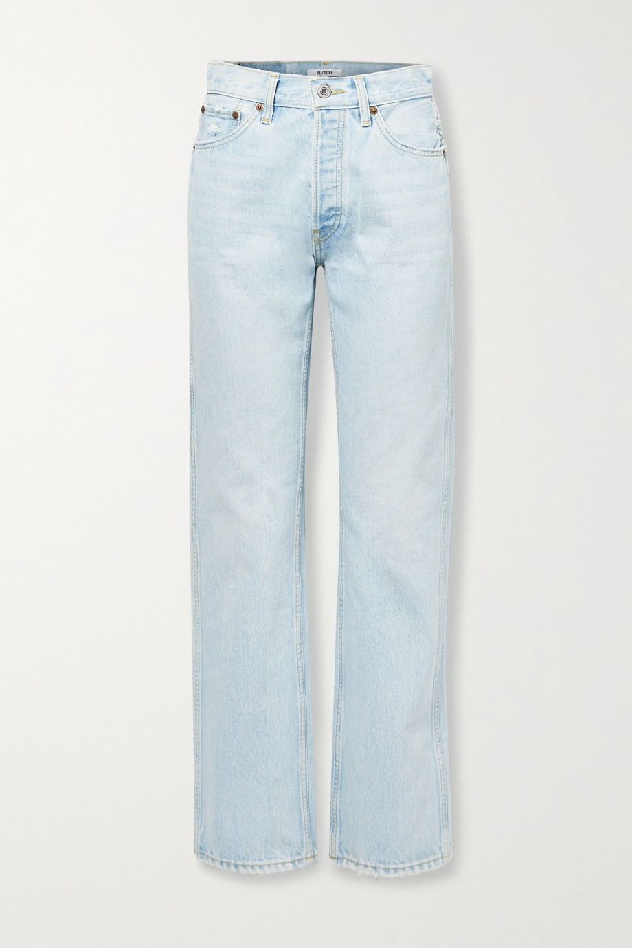RE/DONE 90s distressed high-rise straight-leg jeans