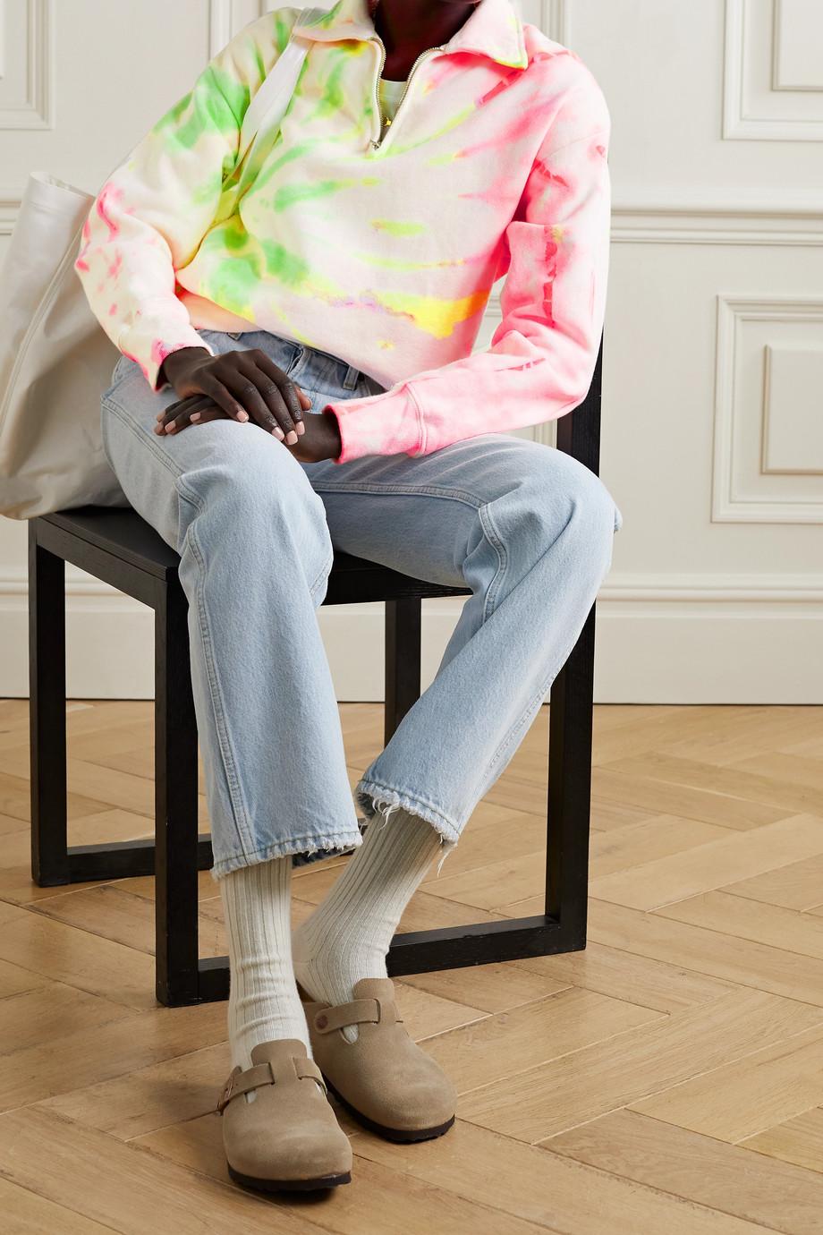 RE/DONE + Hanes 70s Sweatshirt aus Baumwoll-Jersey mit Batikmuster