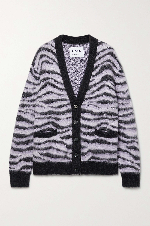 RE/DONE - 90s tiger-intarsia cardigan