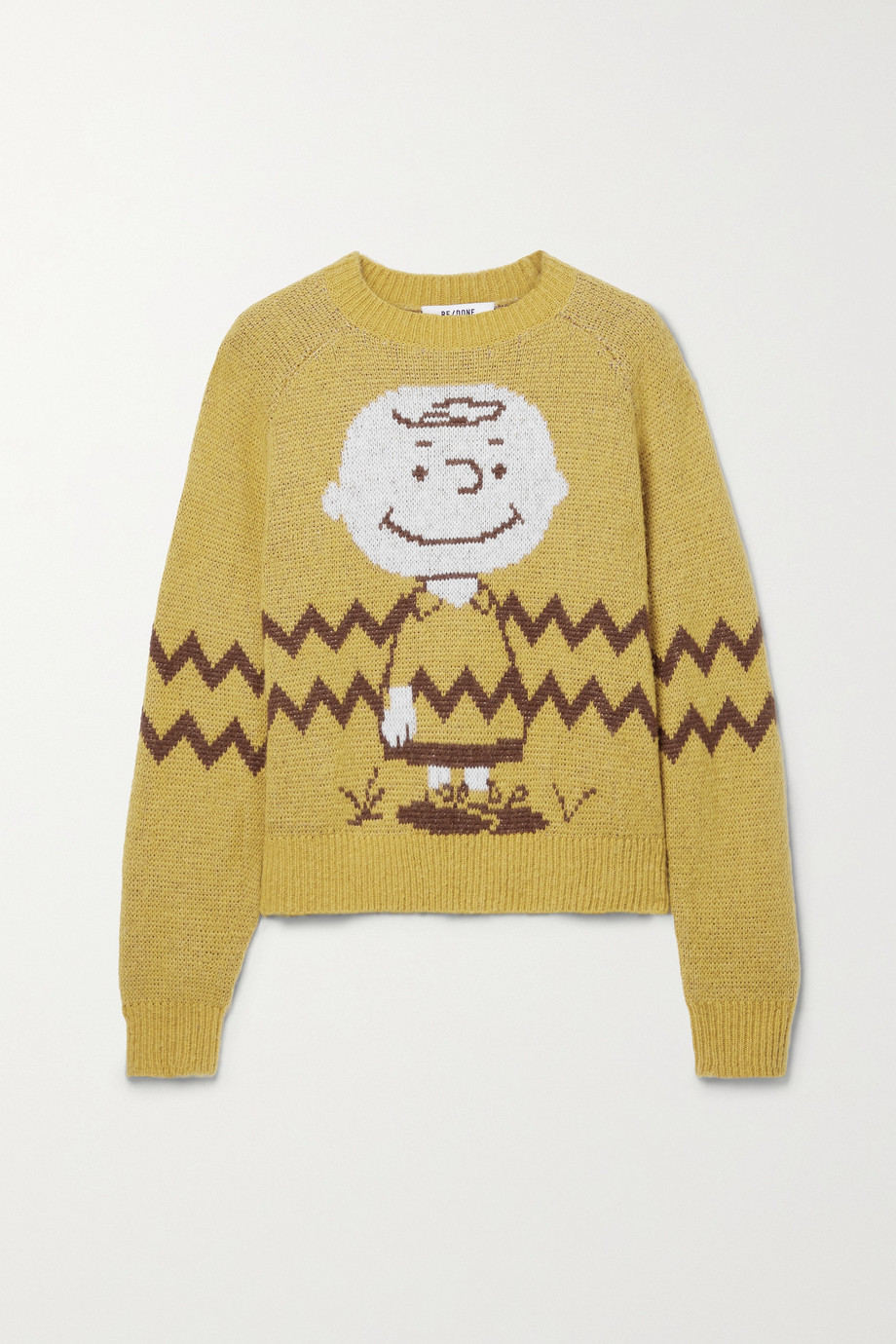 RE/DONE + Peanuts 50s intarsia-knit sweater