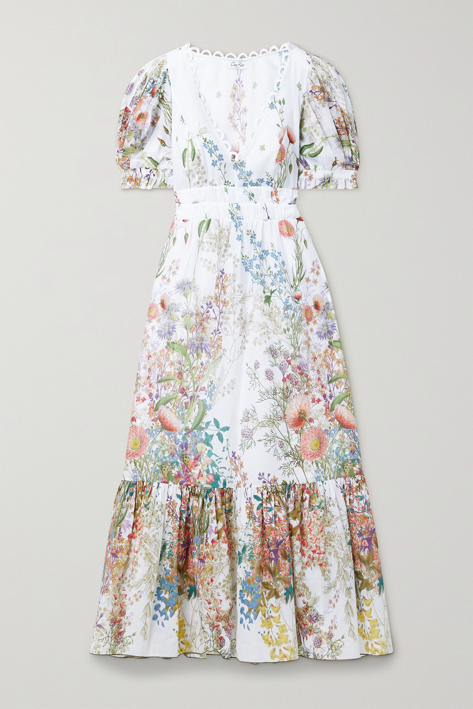 Charo Ruiz Liberty floral-print cotton-poplin midi dress