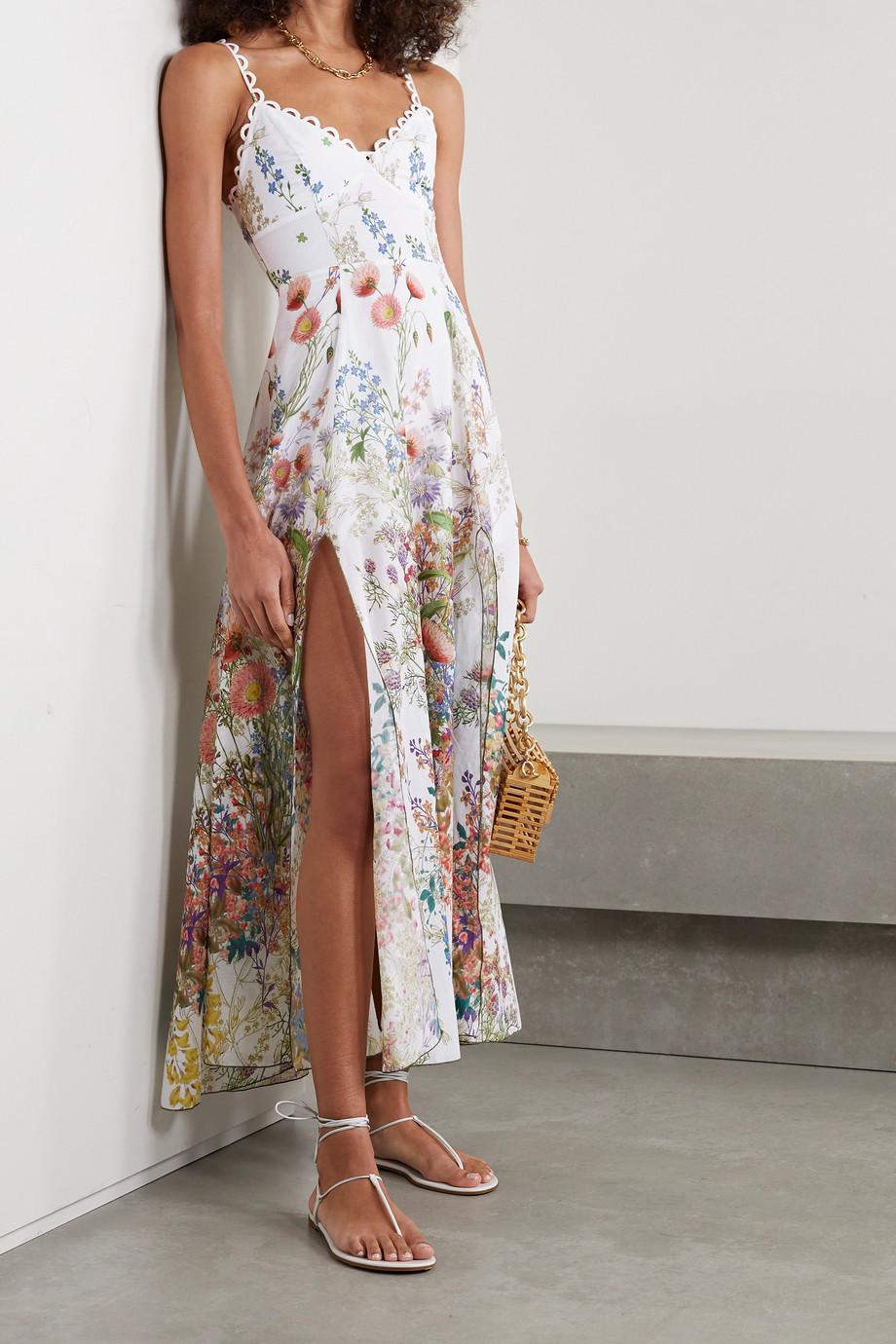 Charo Ruiz Debbie floral-print cotton-poplin midi dress