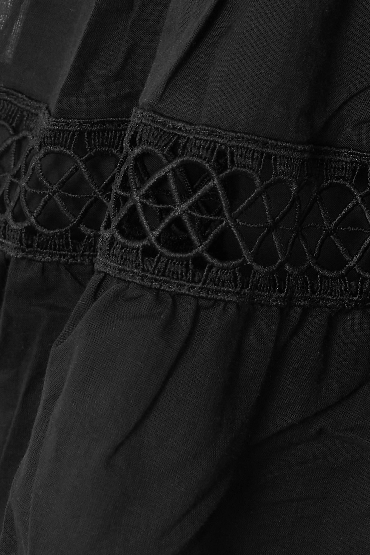 Charo Ruiz Irish cotton-blend voile and guipure lace mini dress