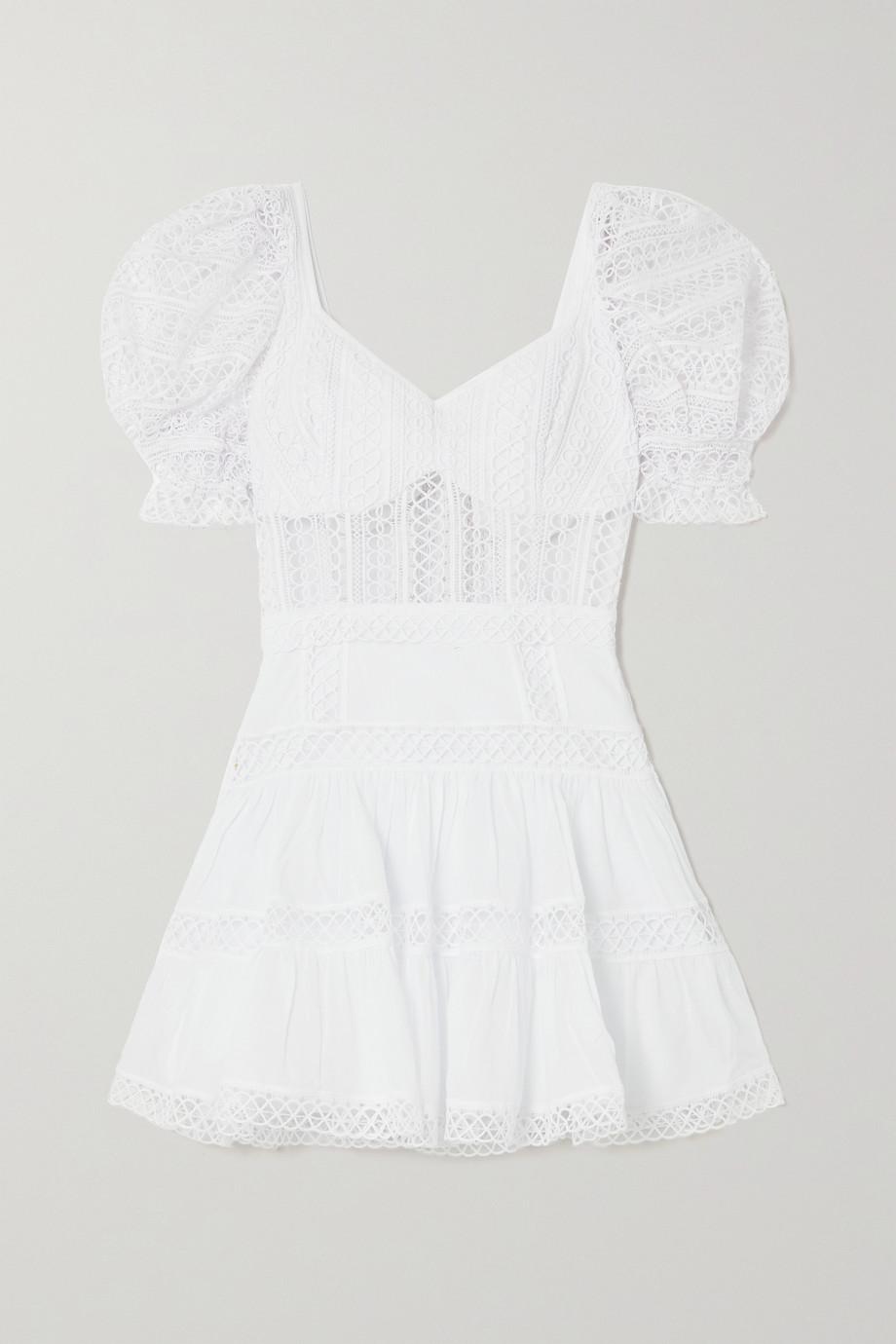 Charo Ruiz Katharine guipure lace and cotton-blend voile mini dress