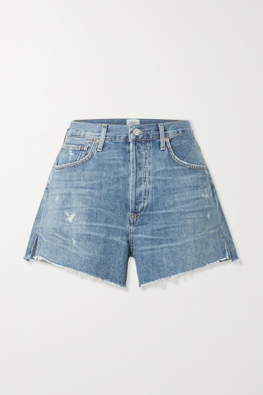 Citizens of Humanity Marlow distressed organic denim shorts