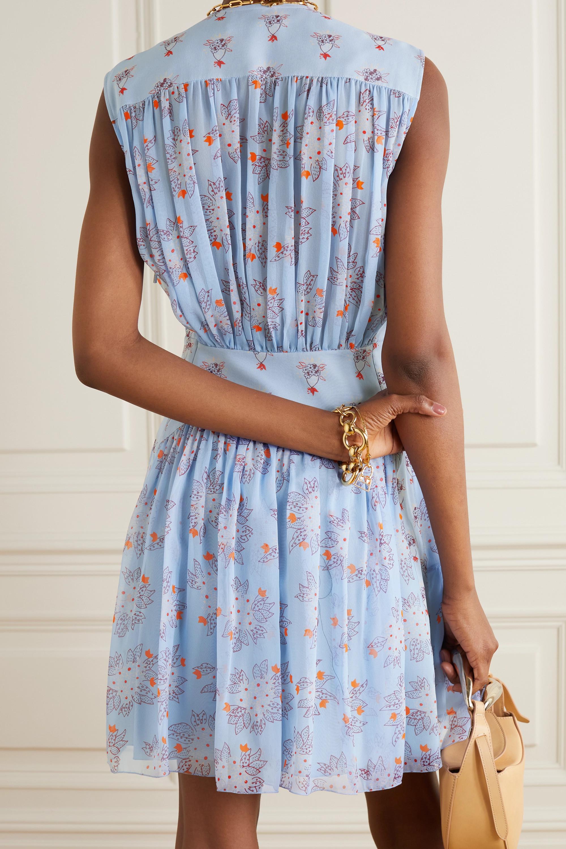 Chloé Tiered gathered floral-print silk-georgette mini dress