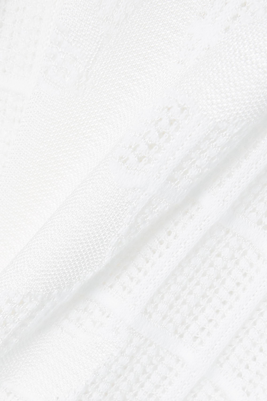 Chloé Maxikleid aus plissiertem Jacquard-Strick