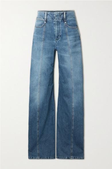 Chloé Cottons HIGH-RISE WIDE-LEG JEANS