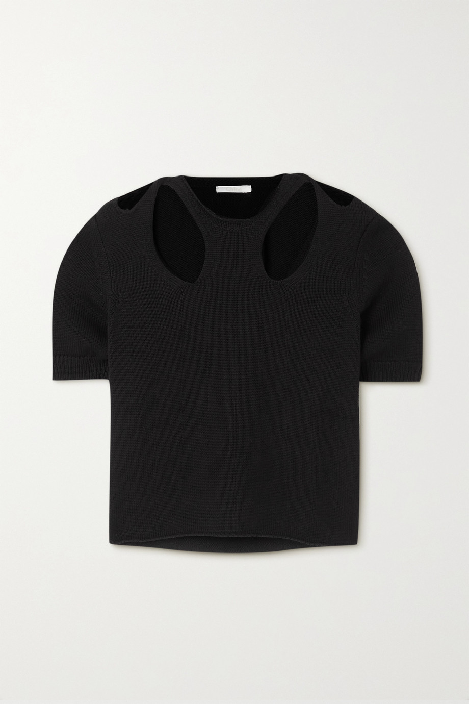 Chloé Cutout cotton and wool-blend sweater