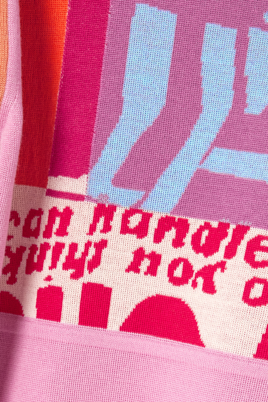 Chloé Pull en laine intarsia